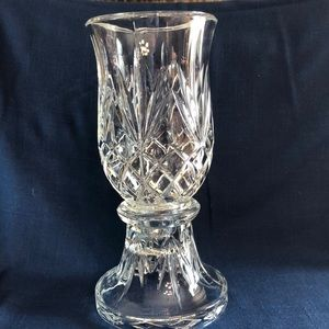 Party Lite Lead Crystal Hurricane Candle Holder